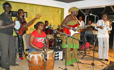 Della Hayes and Dzesi, the Women of Colour Band at +233 Grill and Jazz Club