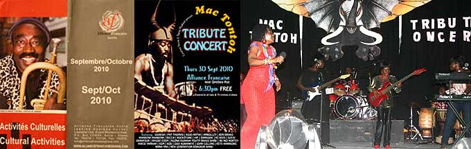 Dzesi performs at the Mc Tontoh Tribute Concert