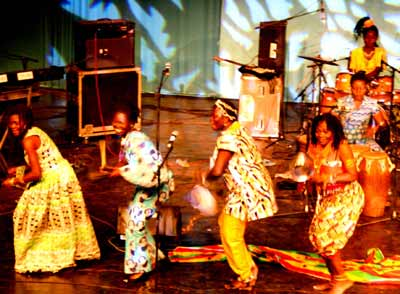 Della Hayes and band at the NAK Festival , Burkina Faso