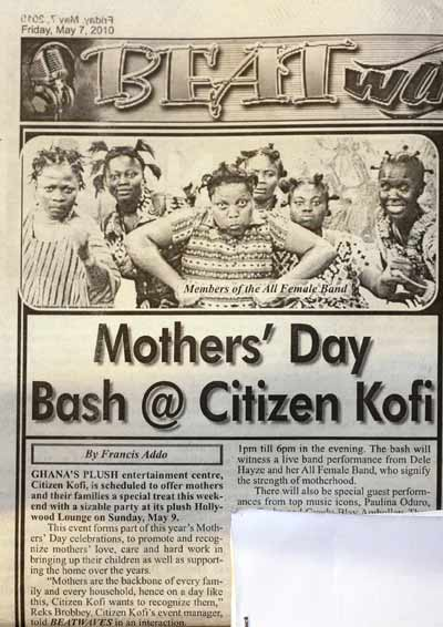 Mother's Day Bash -  Citizen Kofi